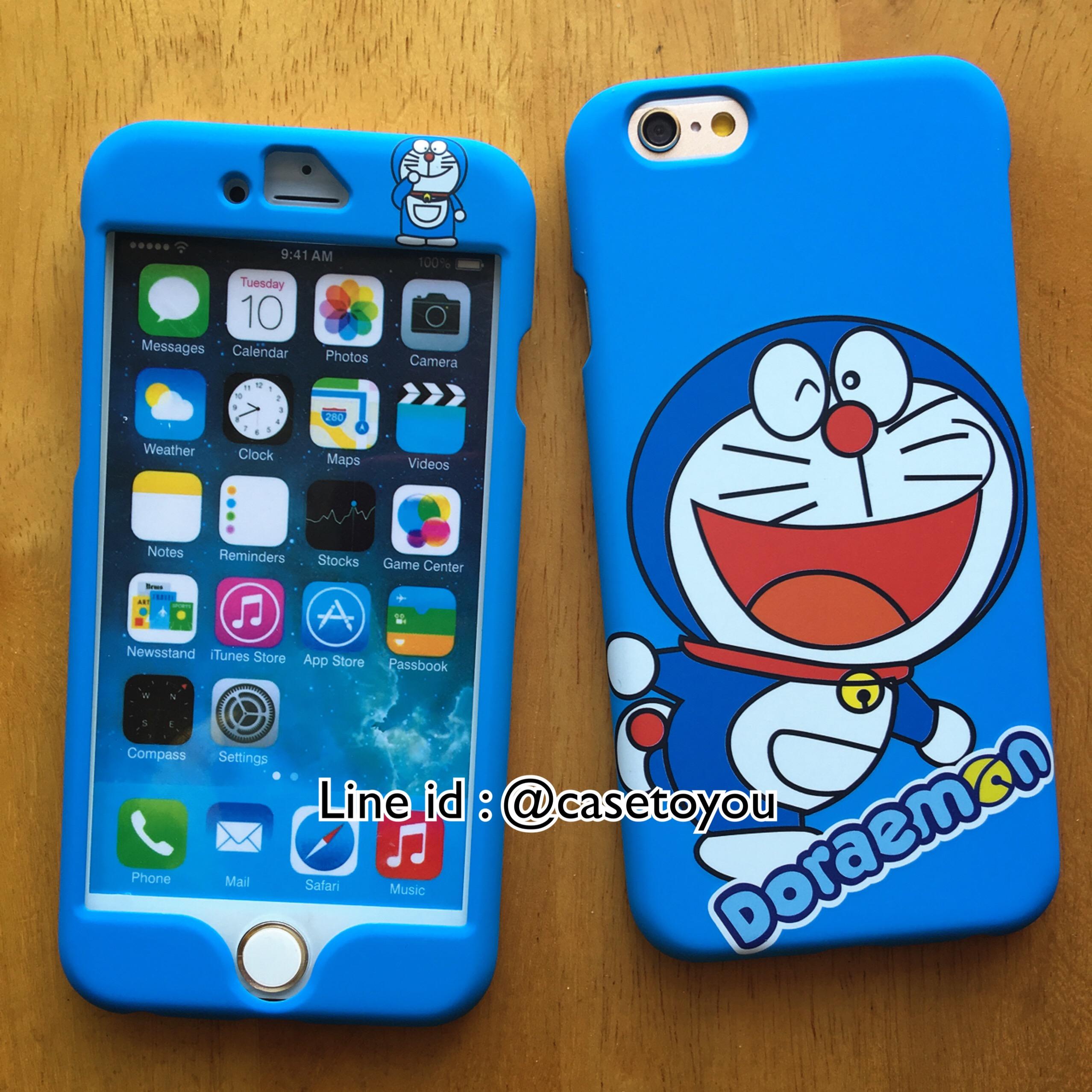 เคสประกบหน้า-หลัง Doraemon 01 iPhone 6/6S