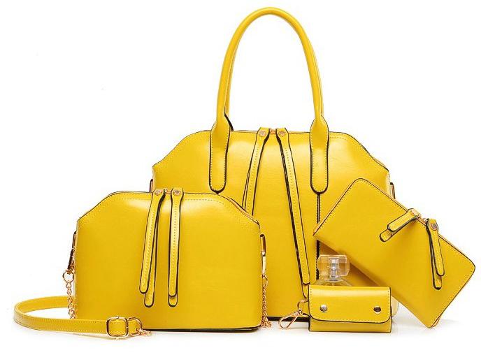 กระเป๋าแฟชั่น สีเหลือง รหัส AA1