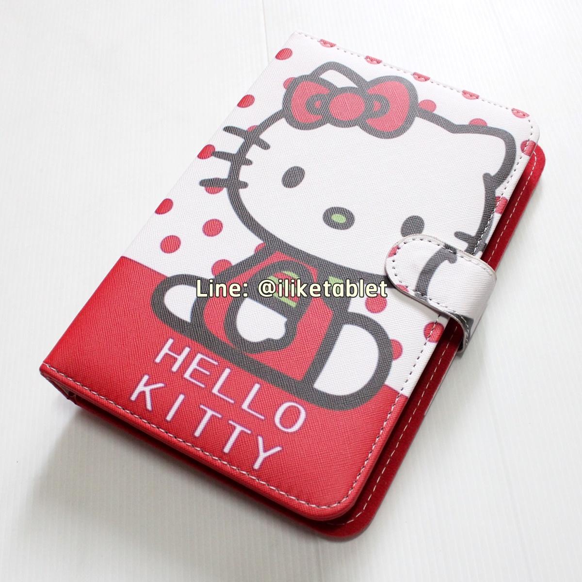 """เคสคีย์บอร์ด 7"""" ลาย Kitty น่ารัก สีแดง Micro USB สำหรับโทรศัพท์หรือแท็บเล็ต"""