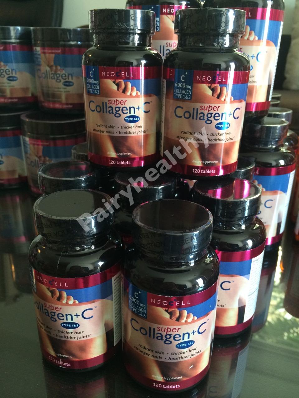 NeoCell Super Collagen 6000mg 1กระปุก บรรจุ 120 เม็ด ส่งฟรี ลทบ.