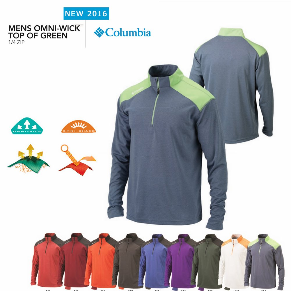 Columbia Top Of Green Polo