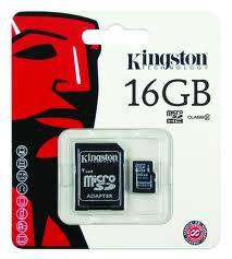 Micro SD Card 16GB Kingston (SDC4, Class 4) ของแท้ ประกันศูนย์ไทย