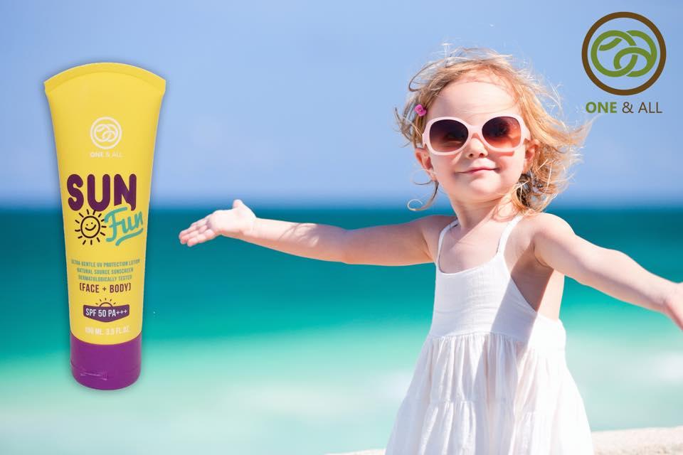 One & All Sun Fun SPF 50 PA+++ 20 ml. organic sun block