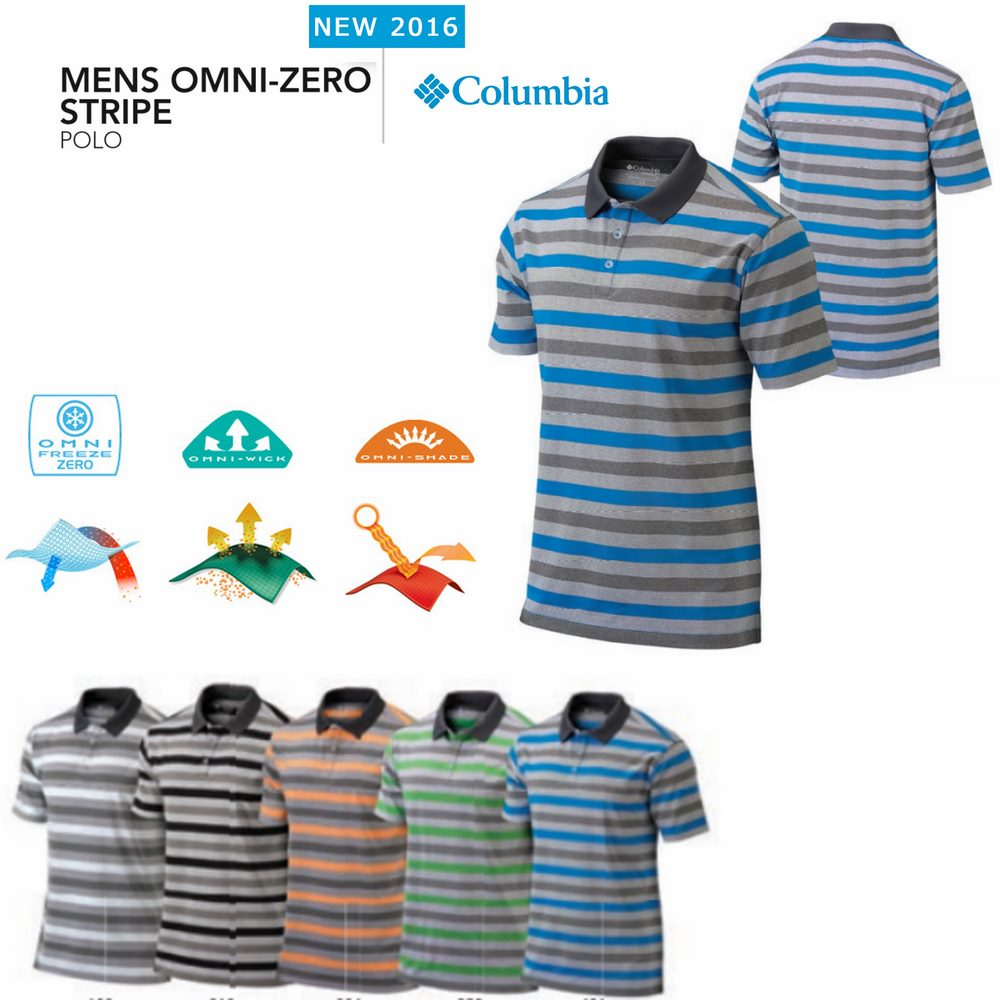 Columbia Omni -Zero Stripe Polo