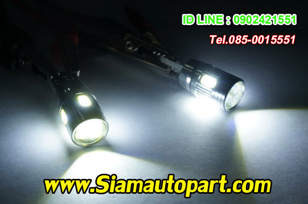 LED-T10-5730-6SMD-หัวเลนส์ แสงสีขาว