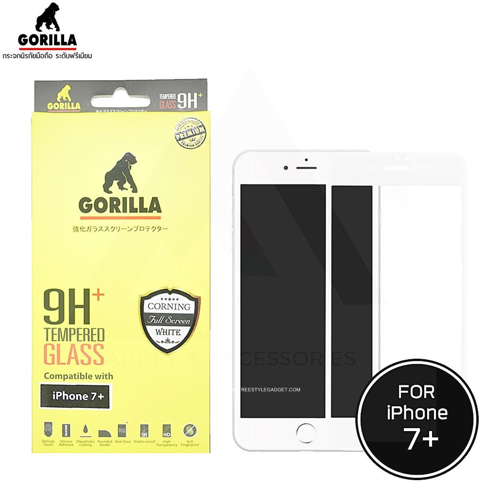 กระจกนิรภัยระดับฟรีเมี่ยม Gorilla Tempered Glass - ฟิลม์กระจกสำหรับ iPhone 7 Plus