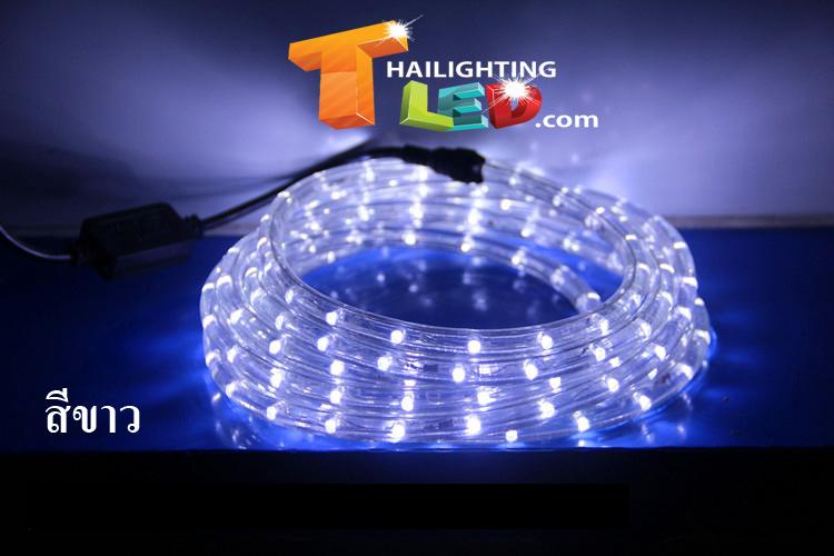 ไฟสายยาง (ท่อกลม) LED 10 m สีขาว