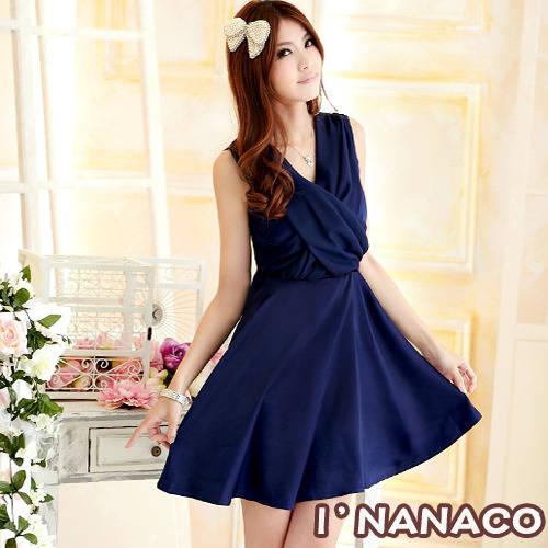 dress ชุดเดรสแฟชั่น ผ้าชีฟอง สีน้ำเงิน ใส่ทำงาน สม็อคช่วงอกด้านหลัง ใส่ออกงานได้ น่ารักมากๆ ค่ะ