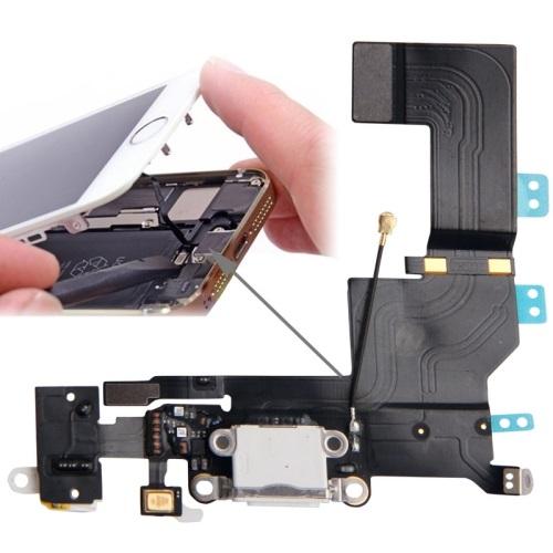 อะไหล่ไอโฟน5s สายแพร USB+Small+ไมค์ ไอโฟน 5S (สีขาว)