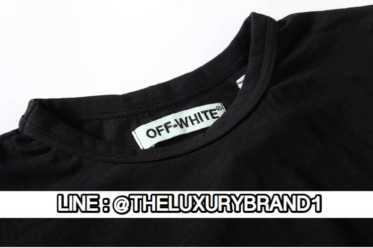 เสื้อยืด Off-White Cut Off สีดำ