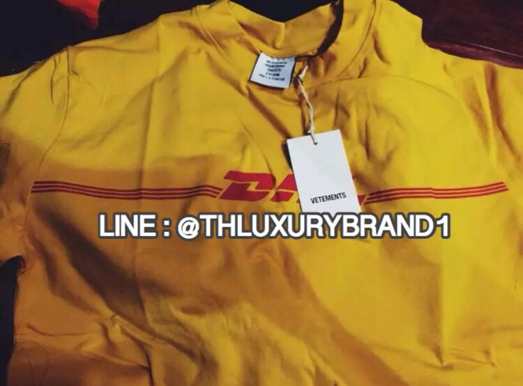 เสื้อยืด DHL Vetements T-Shirt สีเหลือง