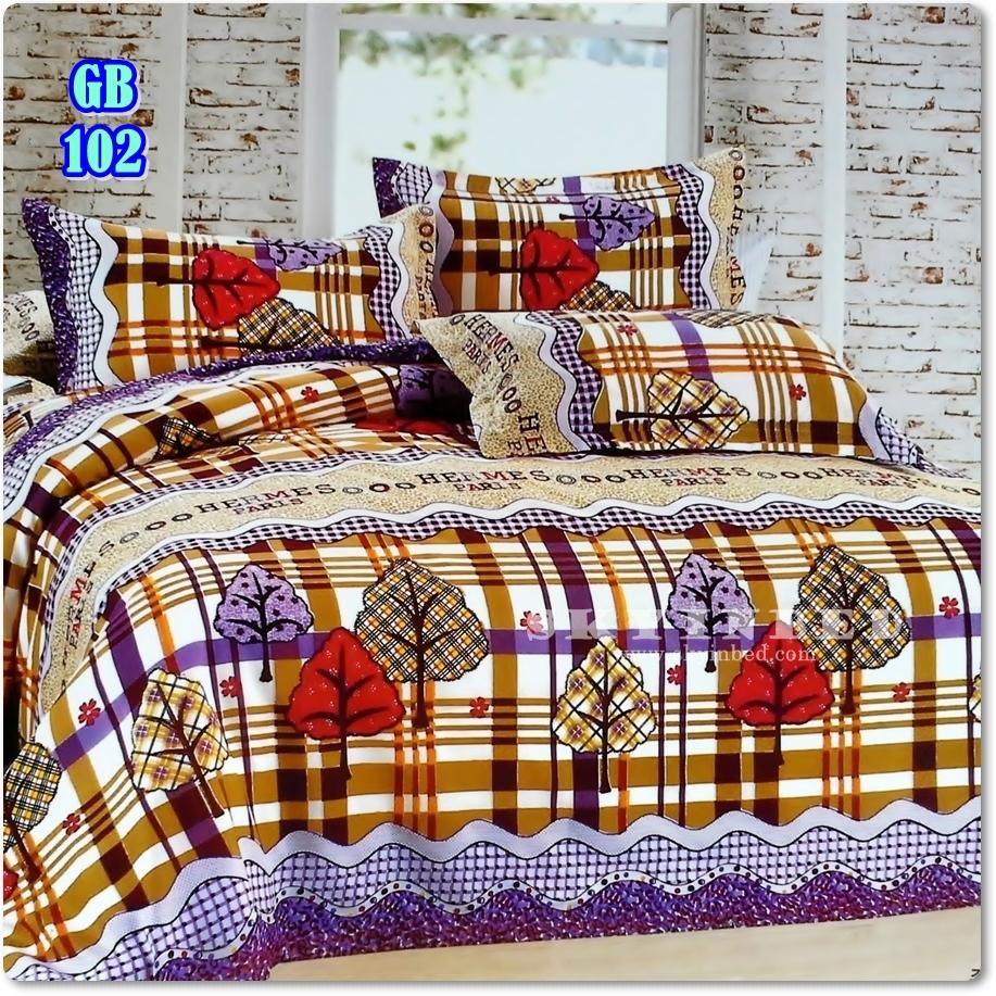 ผ้าปูที่นอนราคาถูก ขนาด 5 ฟุต(5 ชิ้น)[GB-102]