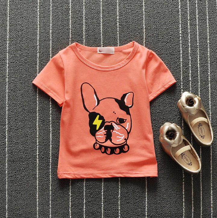 **เสื้อรูปสุนัข | ชมพู | S-XL | 4ชุด/แพ๊ค | เฉลี่ย 90/ชุด