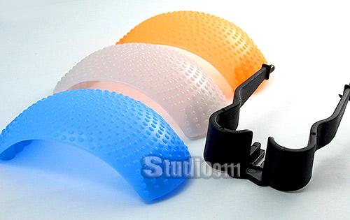อุปกรณ์ช่วยกระจายแสงแฟลช 3 COLOR Pop Up Flash Diffuser