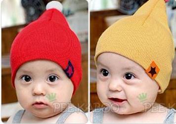 **หมวกเด็กเล็ก | แดง,เหลือง,น้ำเงิน | ยาว 22 cm. กว้าง 16.5 cm. เด็ก 0-6 เดือน | 6ใบ/แพ๊ค | เฉลี่ย 50/ใบ