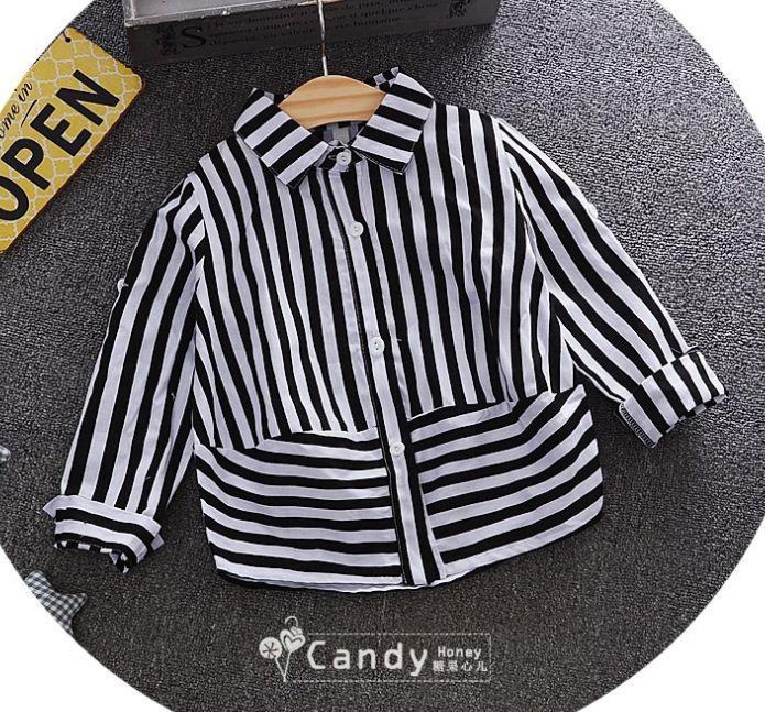 **เสื้อลายยาวสีดำ คอปก | สีดำ | 5-7-9-11-13 | 4ชุด/แพ๊ค | เฉลี่ย 225/ชุด