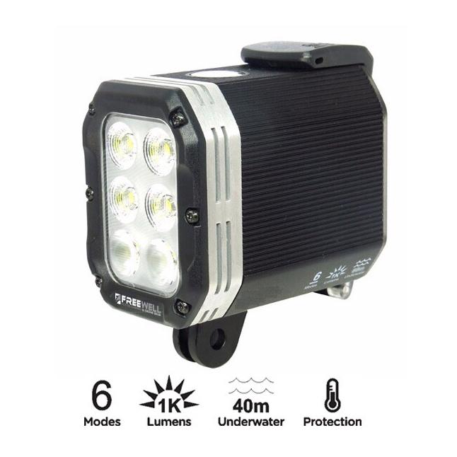 เช่า : ไฟฉาย Freewell Light ความสว่าง 1000 lumens ใช้ได้กับกล้อง GoPro , Action Camera ทุกรุ่น 200บาท/วัน