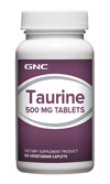 GNC TAURINE 500MG จีเอ็นซี ทอรีน 500 มก. 50 Tablets Code: 045712 เลขทะเบียน อย. 10-3-02940-1-0008