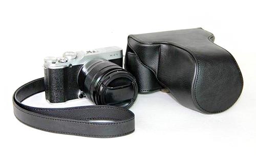 Case หนัง สีดำ สำหรับกล้อง FUJI X-M1 และ X-A1 X-A2