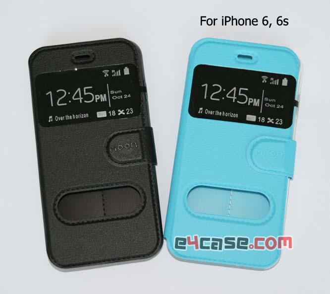 เคส iPhone 6, iPhone 6s - moon เคสพับโชว์เบอร์