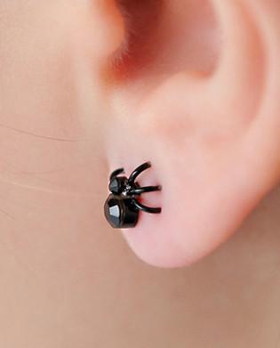 ต่างหูวินเทจ แมงมุมสีดำ
