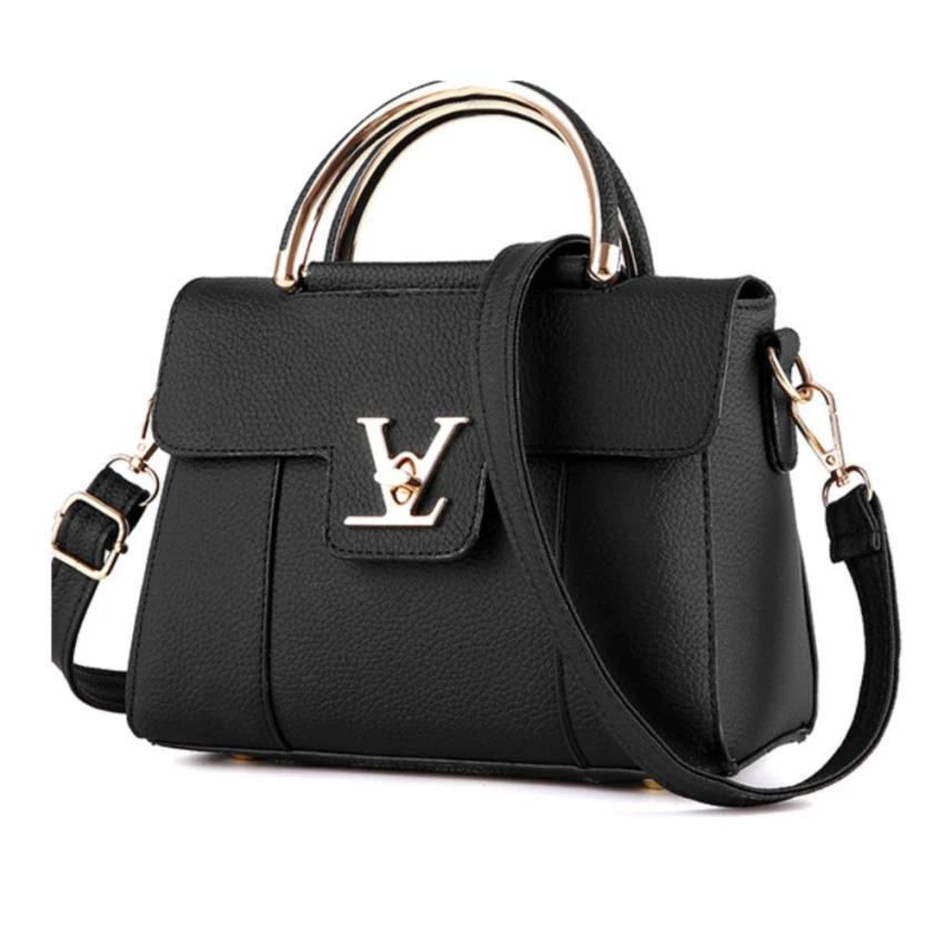 Wonderful story กระเป๋าสะพายข้าง กระเป๋าเป้ผ้าไนลอน V2- (Black) (รหัส 2ijtI2Q)