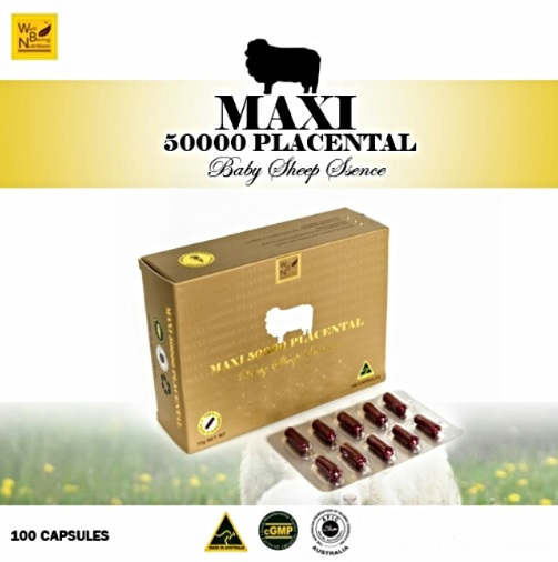 Wealthy Health Maxi 50000 Placental Baby Sheep Placenta รกแกะ 50000 มก.(100 capsules)