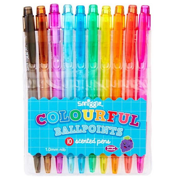 SMM052 ปากกา smiggle Colourful 10 แท่ง กลิ่นองุ่น