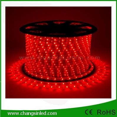 ไฟยาง LED Rope Light 36 leds แบบกลม 3 แกน สีแดง