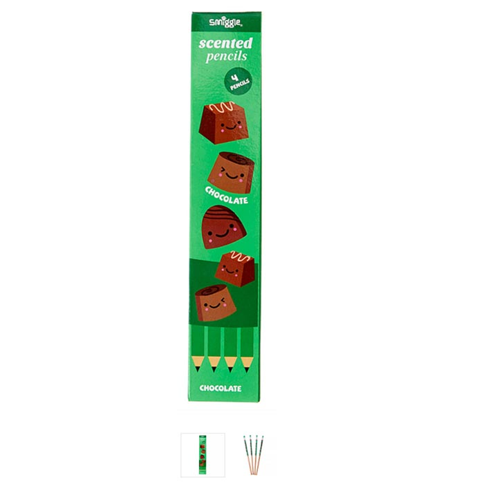 SMM045 smiggle ดินสอมีกลิ่น 5 แท่ง Double Scented - ช๊อคโกแล๊ค