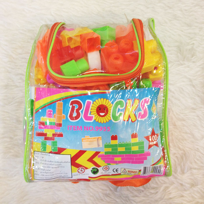 บล็อคตัวต่อพลาสติกของเล่น ชิ้นใหญ่ Wit Blocks 100 ชิ้น