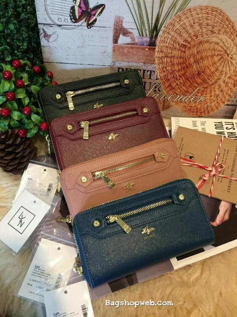 กระเป๋าสตางค์ใบยาว LYN Jubilee Long Wallet สุดฮิตเ สวยหรูสไตล์ ราคา 1,290 บาท ส่งฟรี Bagshopweb.com