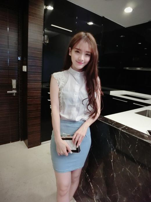 เสื้อแขนกุดสไตล์เกาหลี เย็บลายลูกไม้ สีขาว
