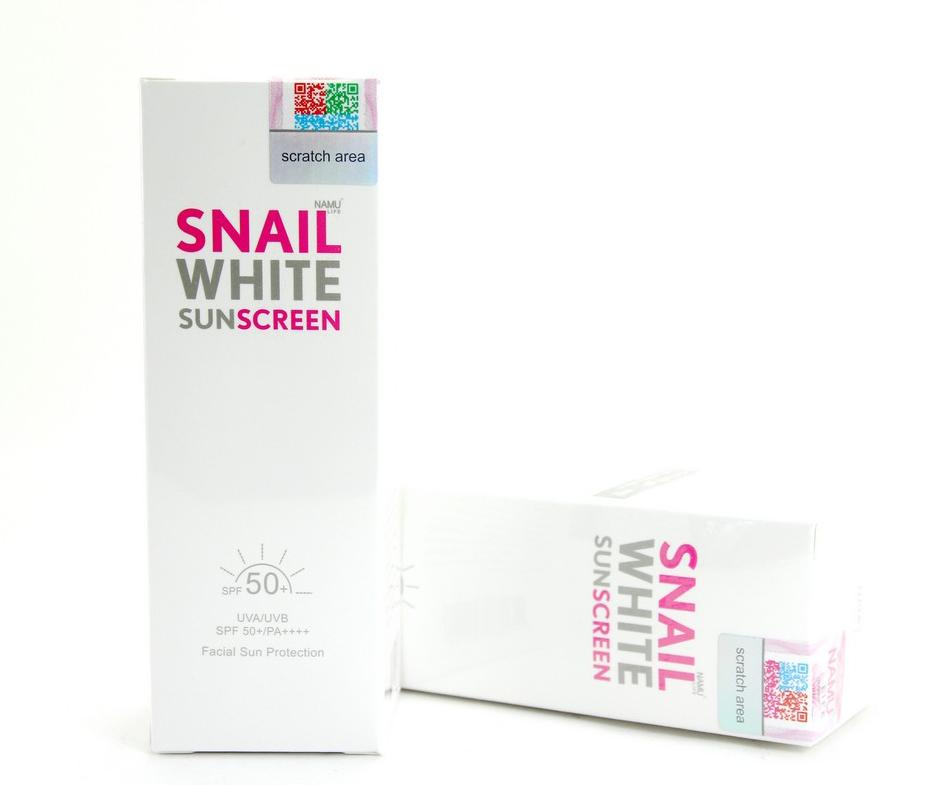 SNAIL WHITE SUNSCREEN SPF50+ PA++++ (UVA/UVB) ครีมกันแดดสเนลไวท์