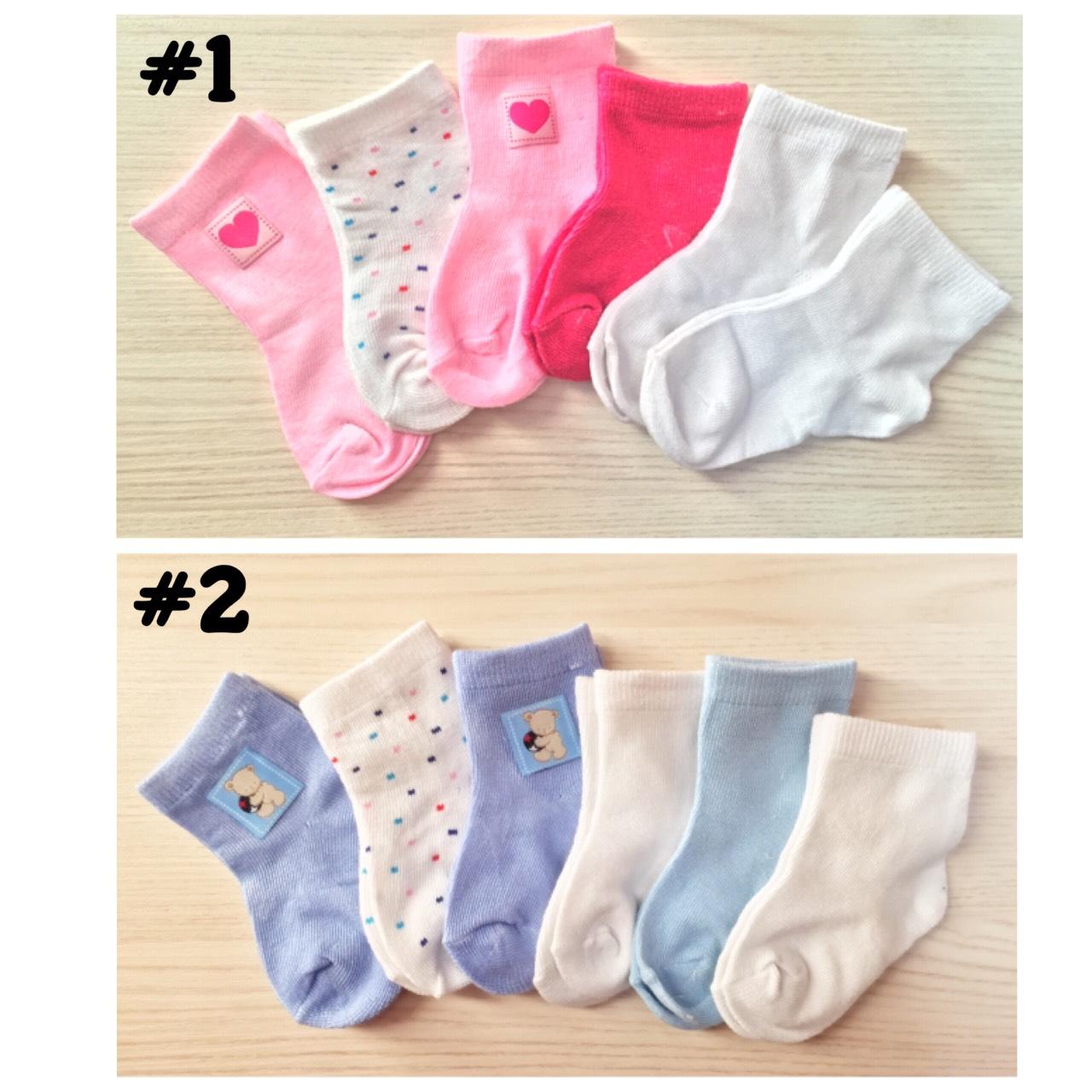 SK092••ถุงเท้าเด็ก•• ถุงเท้าแรกเกิด (6คู่/แพค)