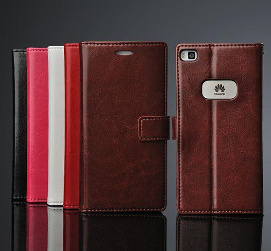 (พรีออเดอร์) เคส Huawei/P8-DH Flip case หนัง