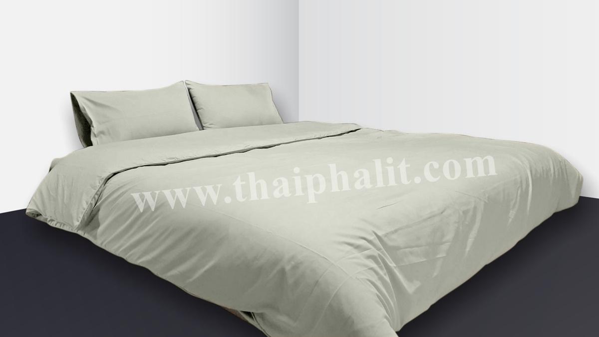 เซตผ้าปูที่นอนผ้าไมโครเทค สีเบจ (เบอร์ 17)