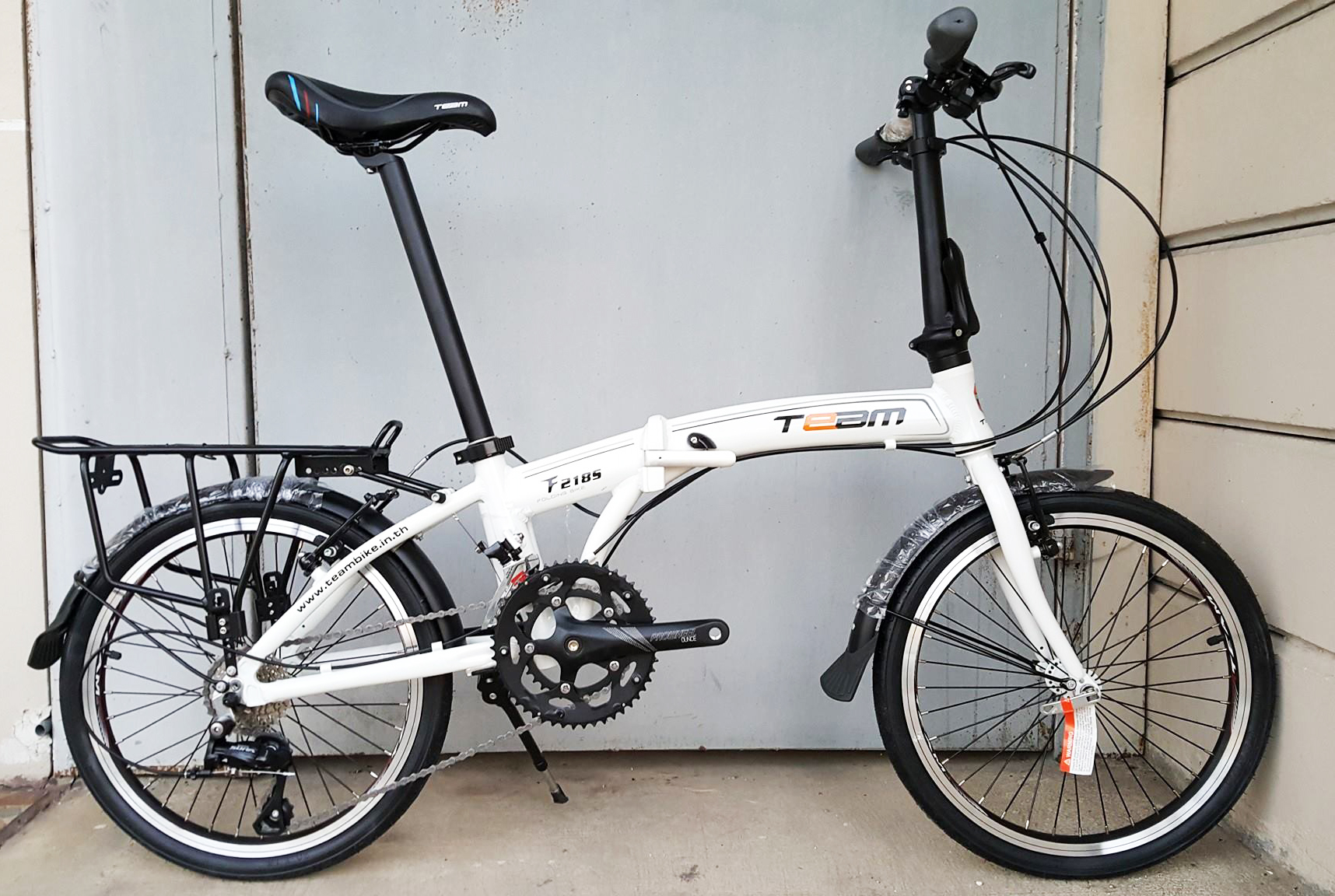 จักรยานพับเฟรมอลูมิเนียม สุดยอดด้วยดุม Novatec เกียร์ Sora 18 Speed ยี่ห้อ Team รุ่น F2185 ตะเกียบโครโมลี