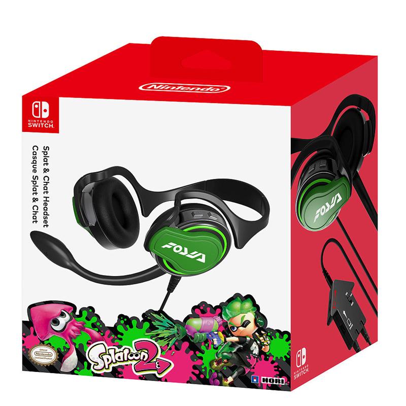 หูฟัง Splatoon ยี่ห้อ Hori ของแท้ // HORI™ Nintendo Switch Splatoon 2 Splat & Chat Headset (NSW-047U)