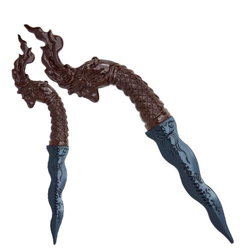 กริชเหล็กน้ำพี้ ด้ามหัวพญานาค (Naga Dagger)