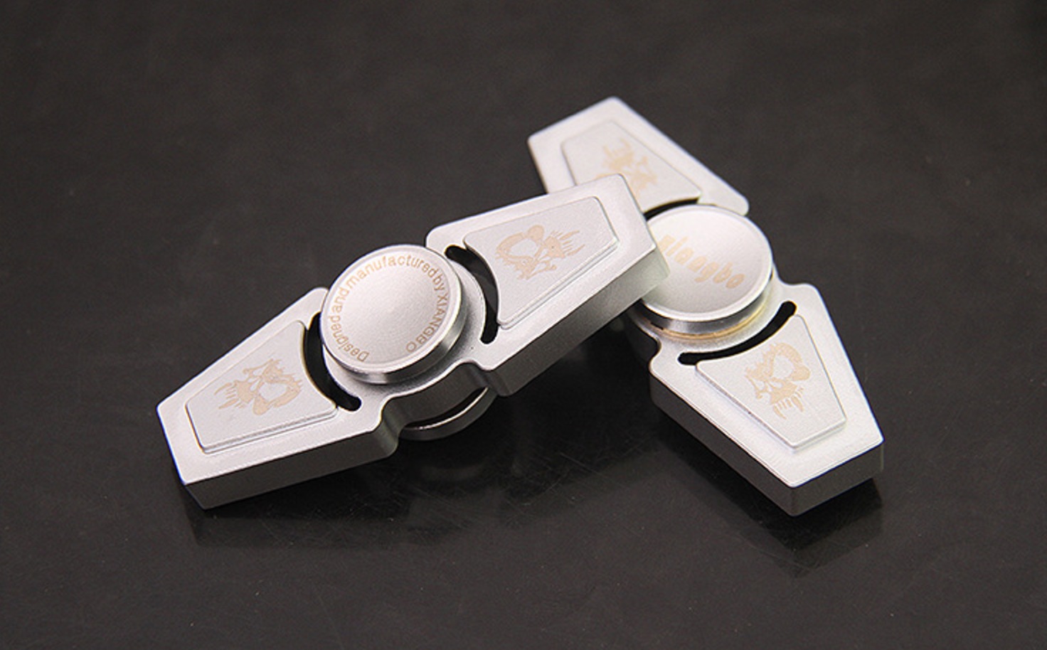 Fidget Spinner 2-Way Silver