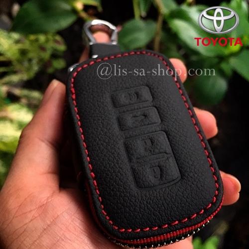 กระเป๋าซองหนังแท้ ใส่กุญแจรีโมทรถยนต์ รุ่นมินิซิบรอบ Toyota All New Camry,Altis ตัวท๊อป