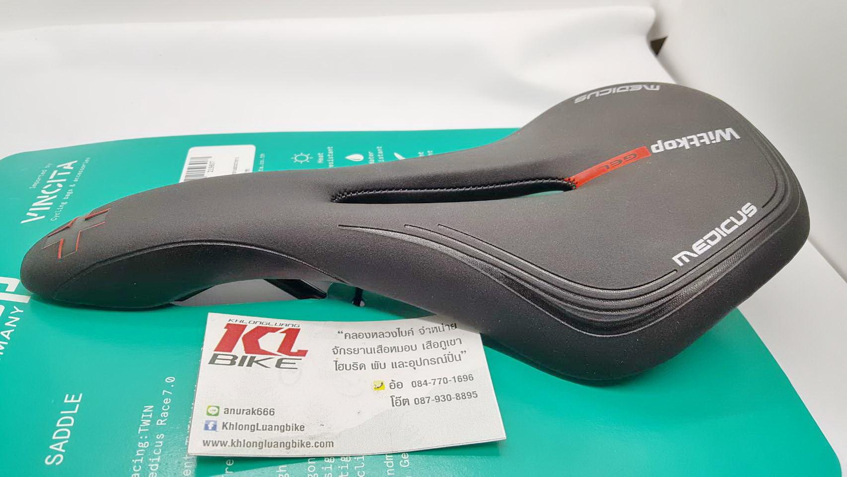 เบาะเจล Wittkop 2018 ทรง Sport หนังแบบใหม่ Velonra Leather Made in Germany 100%