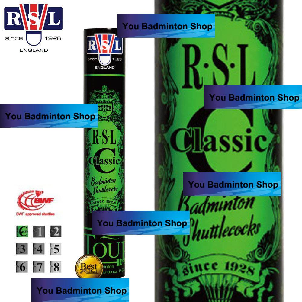 ลูกแบดมินตัน RSL C Classic (speed 76) คุณภาพความทนเหนียวสูงสุดของแท้ 100% สั่งซื้อขั้นต่ำ 2 หลอด!!