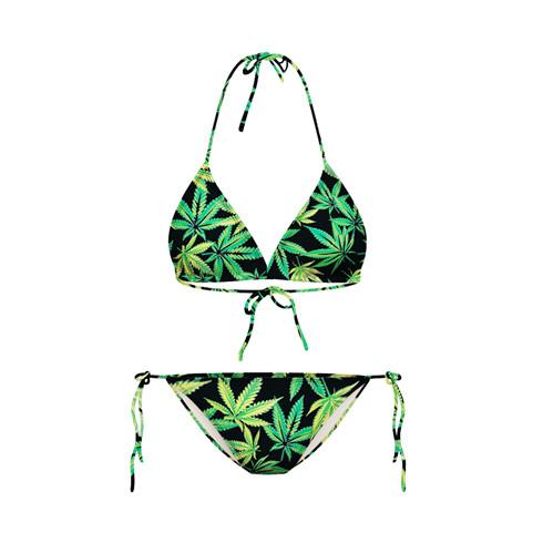 ชุดว่ายน้ำ บิกินี่ ใบเมเปิ้ลเขียว Bikinni - Size M