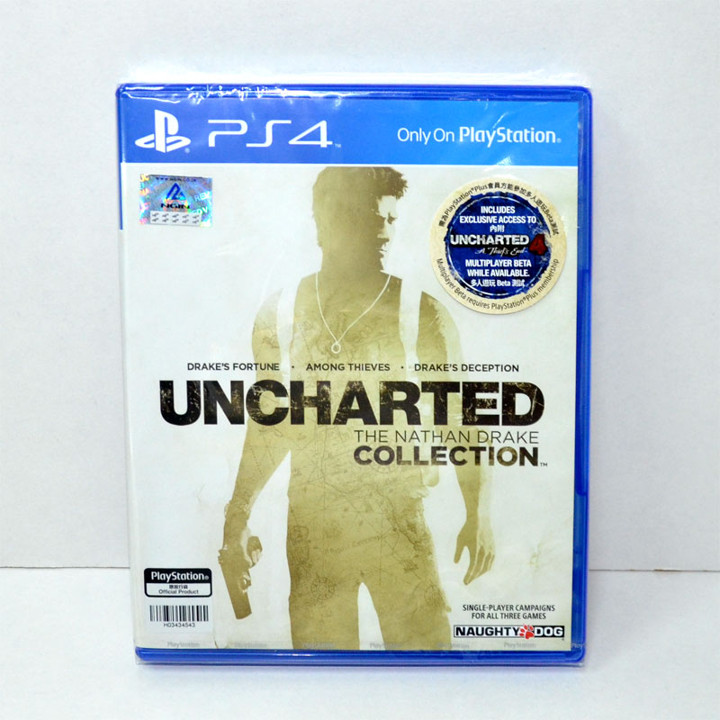 *PS4 Uncharted: The Nathan Drake Collection Zone1 us , zone 3 eng