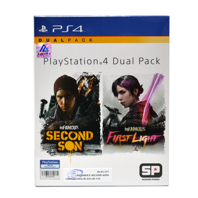 PS4™ inFAMOUS &#x262F Dual Pack Zone 3 Asia / English(ขายดี)