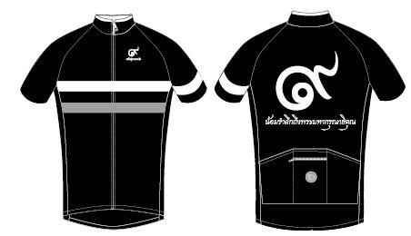 เสื้อปั่นจักรยานสีดำ B01 & B02