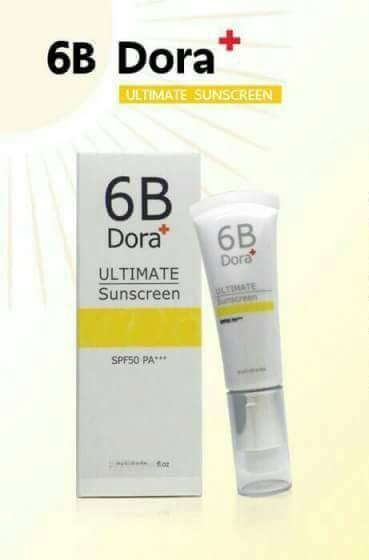 6B Dora+ ULTIMATE Sunscreen spf 50 pa+++ กันแดดเนื้อมูส