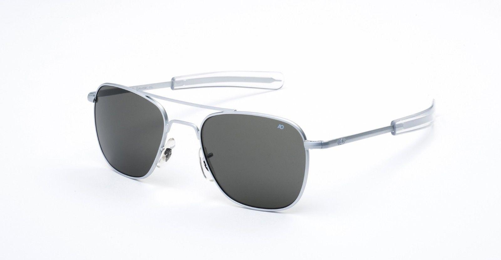 AO American Optical Original Pilot Matte Chrome - Made in USA